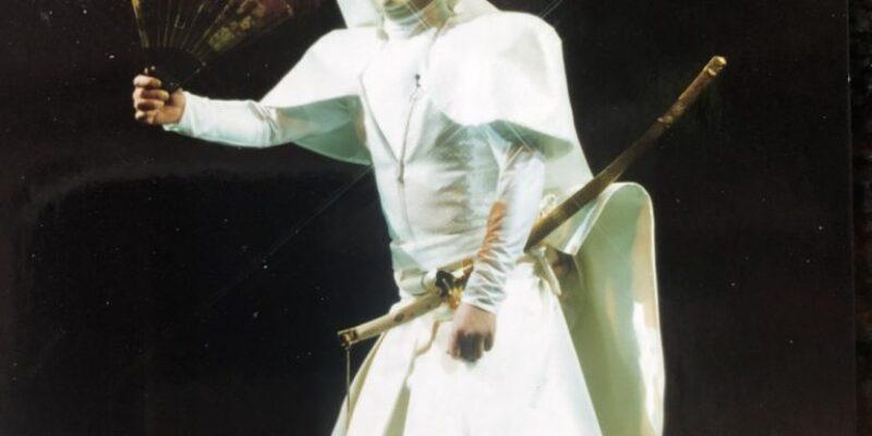 Takayama Ukon wearing Hanae Mori's costume